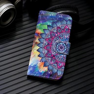 voordelige Galaxy Note-serie hoesjes / covers-hoesje Voor Samsung Galaxy Note 9 / Note 8 Portemonnee / Kaarthouder / met standaard Volledig hoesje Mandala Hard PU-nahka