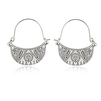 Női Függők Retro hölgyek Európai Etno Divat Fülbevaló Ékszerek Ezüst Kompatibilitás Hétköznapi Napi 1 pár