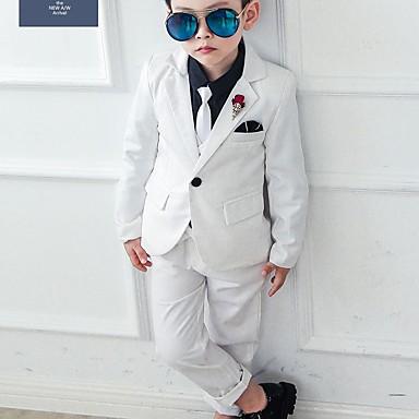 cheap Boys' Clothing Sets-Kids Boys' Basic Print Long Sleeve Cotton Clothing Set Blue