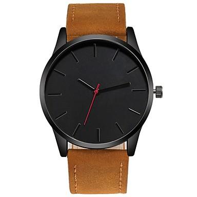 זול שעוני גברים-בגדי ריקוד גברים שעון יד קווארץ עור שחור / חום כרונוגרף יצירתי שעונים יום יומיים אנלוגי אופנתי מינימליסטי - חום חום שחור שחור / לבן שנה אחת חיי סוללה / צג גדול