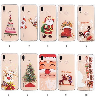 Case For Huawei P20 lite / Huawei P Smart Plus Pattern Back Cover Christmas Soft TPU for Huawei P20 lite / Huawei P smart / Huawei P Smart Plus