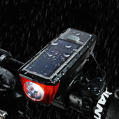 LED Bike Light Bike Horn Light Mountain Bike MTB Cycling Waterproof Portable Quick Release Rechargeable Battery 350 lm Battery Powered Solar Powered White Cycling / Bike