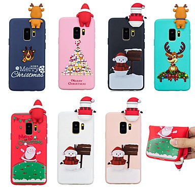 Case For Samsung Galaxy S9 Plus / S9 Pattern Back Cover Christmas Soft TPU for S9 / S9 Plus / S8 Plus