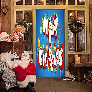 Door Stickers - 3D Wall Stickers Christmas Decorations / Holiday Indoor / Outdoor