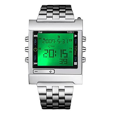 Недорогие Часы на металлическом ремешке-Жен. Спортивные часы Армейские часы электронные часы Японский Кварцевый Нержавеющая сталь Серебристый металл 30 m Защита от влаги Календарь Секундомер Цифровой Роскошь На каждый день Рождество -