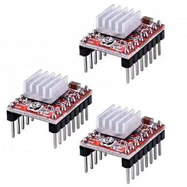 a4988 βηματικό stepper κινητήρα μονάδα ελέγχου θερμότητας για 3-bit εκτύπωση εκτυπωτή (πακέτο 3 τεμ)