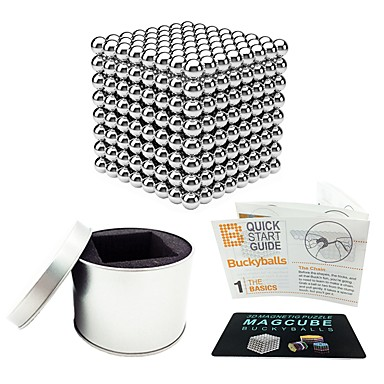 512 pcs 5mm Magnet Toy Magnetic Balls Building Blocks Super Strong Rare-Earth Magnets Neodymium Magnet Magnetic Stress and Anxiety Relief Office Desk Toys Relieves ADD, ADHD, Anxiety, Autism Novelty