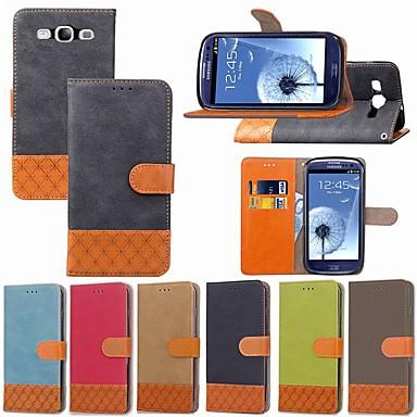 Недорогие Чехлы и кейсы для Galaxy S4 Mini-Кейс для Назначение SSamsung Galaxy S9 / S9 Plus / S8 Plus Бумажник для карт / Защита от удара / со стендом Чехол Однотонный / Геометрический рисунок Твердый текстильный