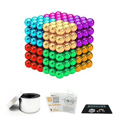 216 pcs 5mm Magnet Toy Magnetic Balls Magnet Toy Super Strong Rare-Earth Magnets Magnetic Stress and Anxiety Relief Office Desk Toys Relieves ADD, ADHD, Anxiety, Autism Novelty Teenager / Adults' All