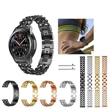 voordelige Smartwatch-accessoires-Horlogeband voor Gear S3 Frontier / Gear S3 Classic Samsung Galaxy Sportband Roestvrij staal Polsband