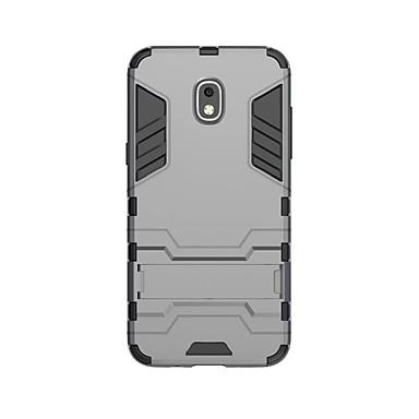 voordelige Galaxy J-serie hoesjes / covers-hoesje Voor Samsung Galaxy J3 (2018) Schokbestendig / met standaard Achterkant Effen Hard PC
