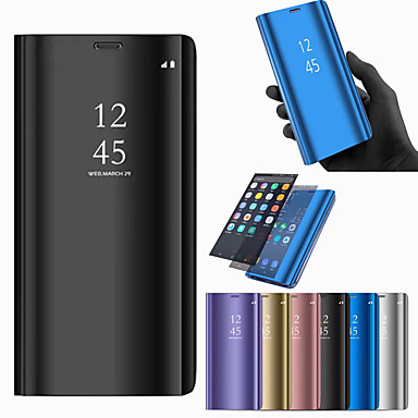 Case For Huawei Huawei Mate 20 Lite / Huawei Mate 20 Pro with Stand / Plating / Mirror Full Body Cases Solid Colored Hard PU Leather for Mate 10 / Mate 10 pro / Mate 10 lite