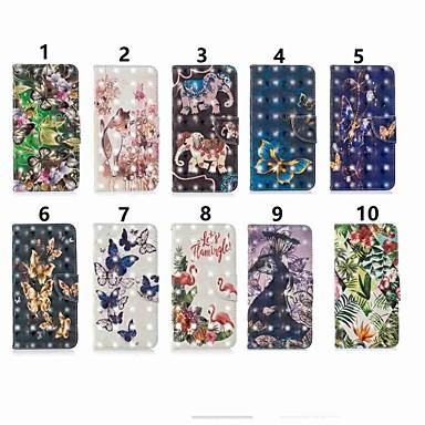 voordelige Huawei Mate hoesjes / covers-hoesje Voor Huawei Mate 10 lite / Huawei Mate 20 lite / Huawei Mate 20 pro Portemonnee / Kaarthouder / met standaard Volledig hoesje Vlinder Hard PU-nahka