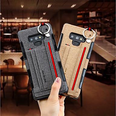 voordelige Galaxy Note-serie hoesjes / covers-hoesje Voor Samsung Galaxy Note 9 / Note 8 Kaarthouder Achterkant Effen Hard tekstiili
