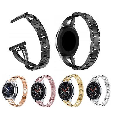voordelige Smartwatch-accessoires-Horlogeband voor Gear S3 Frontier / Gear S3 Classic Samsung Galaxy Sportband / Sieradenontwerp Roestvrij staal Polsband