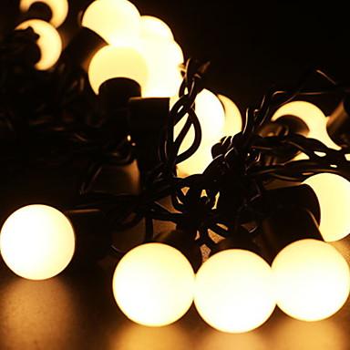 5 m Łańcuchy świetlne 40 Diody LED Ciepła biel Dekoracyjna 220-240 V 1 zestaw