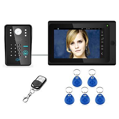 povoljno Sustavi kontrole pristupa-7 inča ožičeni / bežični WiFi RFID lozinka video ulazni telefon telefonski na vratima interkom sustav upport daljinsko aplikacija