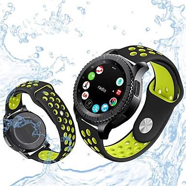 voordelige Horlogebandjes voor Samsung-Horlogeband voor Gear S3 Frontier / Gear S3 Classic Samsung Galaxy Sportband / Klassieke gesp Silicone Polsband