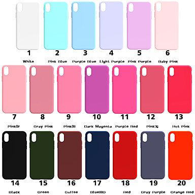 Case For Apple iPhone XR XS XS Max Frosted Back Cover Solid Colored Soft TPU for iPhone X 8 8 Plus 7 7plus 6s 6s Plus SE 5 5S