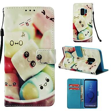 voordelige Galaxy S-serie hoesjes / covers-hoesje Voor Samsung Galaxy S9 Portemonnee / Kaarthouder / Flip Volledig hoesje Voedsel Hard PU-nahka