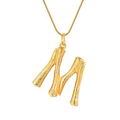 billige Mode Halskæde-Dame Navn Halskædevedhæng Alfabetformet Trendy Mode Guld Sølv 55 cm Halskæder Smykker 1pc Til Gave Daglig