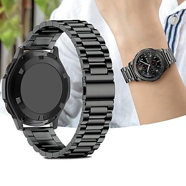 Ремешок для часов для Gear Sport / Gear S2 / Gear S2 Classic Samsung Galaxy Спортивный ремешок Нержавеющая сталь Повязка на запястье