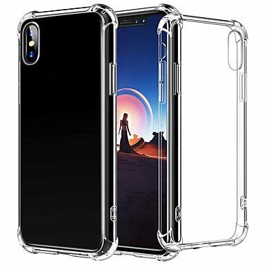 Недорогие Кейсы для iPhone-Кейс для Назначение Apple iPhone XS / iPhone XR / iPhone XS Max Защита от удара Кейс на заднюю панель Однотонный Мягкий ТПУ