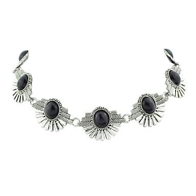 billige Mode Halskæde-Dame Tropisk Kort halskæde Simple Mode Smuk Sort Blå 40 cm Halskæder Smykker 1pc Til Fest / aften Skole