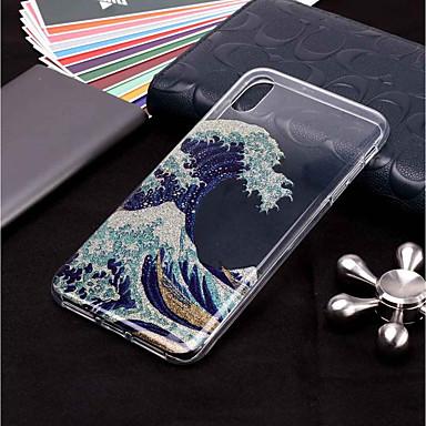 voordelige iPhone 7 hoesjes-hoesje Voor Apple iPhone XS / iPhone XR / iPhone XS Max Patroon / Glitterglans Achterkant Landschap Zacht TPU