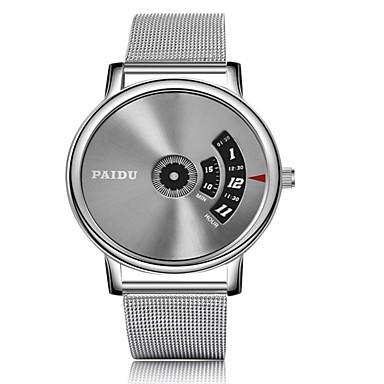 זול שעוני גברים-בגדי ריקוד גברים שעון צמיד שעון דיגיטלי קווארץ כסף לוח שנה שעונים יום יומיים אנלוגי-דיגיטלי אופנתי - כסף / אפור כסוף / לבן