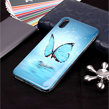 voordelige iPhone 7 hoesjes-hoesje Voor Apple iPhone XS / iPhone XR / iPhone XS Max Glow in the dark / Patroon Achterkant Vlinder Zacht TPU