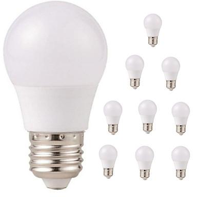 10 шт. 3W 350lm E26 / E27 Круглые LED лампы G45 6 Светодиодные бусины SMD 2835 Водонепроницаемый Декоративная Тёплый белый Холодный белый