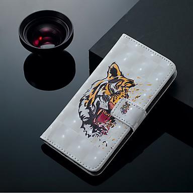 Недорогие Чехлы и кейсы для Galaxy S6 Edge-Кейс для Назначение SSamsung Galaxy S9 / S9 Plus / S8 Plus Бумажник для карт / со стендом / Флип Чехол Животное Твердый Кожа PU