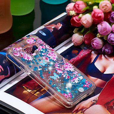 voordelige Galaxy A-serie hoesjes / covers-hoesje Voor Samsung Galaxy A3(2016) Schokbestendig / Glitterglans Achterkant Glitterglans / Bloem Zacht TPU