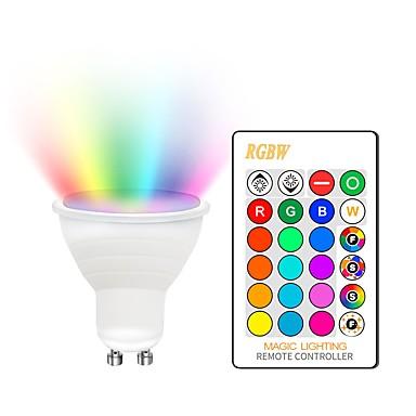 KWB 1set 5 W Spoturi LED 400-450 lm GU10 E26 / E27 2 LED-uri de margele COB Intensitate Luminoasă Reglabilă Decorativ culoare Gradient RGBW 85-265 V / RoHs
