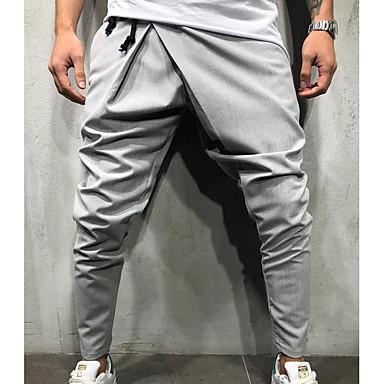 povoljno Moderna odjeća za muškarce-Muškarci pretjeran Dnevno Sportske hlače Hlače - Jednobojni Navy Plava Vojska Green Svijetlosiva L XL XXL