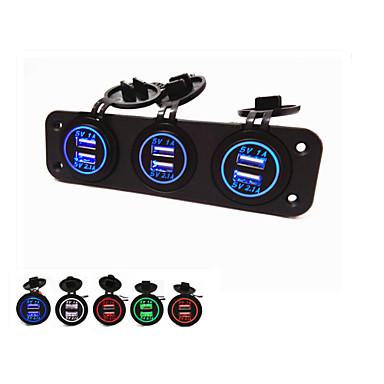 lossmann Hot! Three-Hole Panel With USB.  Waterproof Fashion beautiful.6 Usb ports,5V Power Adapters