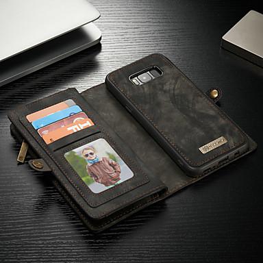 voordelige Galaxy S-serie hoesjes / covers-hoesje Voor Samsung Galaxy S8 Plus Portemonnee / Kaarthouder / met standaard Volledig hoesje Effen Hard PU-nahka