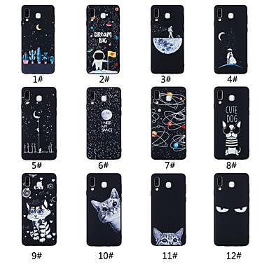 voordelige Galaxy A-serie hoesjes / covers-hoesje Voor Samsung Galaxy A5(2018) / A6 (2018) / A6+ (2018) Mat / Patroon Achterkant Woord / tekst / Landschap / dier Zacht TPU