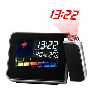 ieftine Decor Casă-ecran LCD lcd prognoza stație meteo calendar proiector snooze ceas cu alarmă