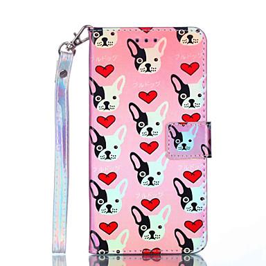 voordelige iPhone 5 hoesjes-hoesje Voor Apple iPhone XS / iPhone XR / iPhone XS Max Portemonnee / Kaarthouder / Schokbestendig Volledig hoesje Hond Hard PU-nahka