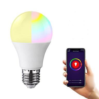 abordables Luces inteligentes-e27 llevó bombillas wifi inteligentes 22 cuentas led smd 2835 funciona con amazon alexa / app control / google home rgbw 85-265v