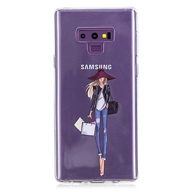 voordelige Galaxy Note-serie hoesjes / covers-hoesje Voor Samsung Galaxy Note 9 / Note 8 Patroon Achterkant Hart / Sexy dame Zacht TPU
