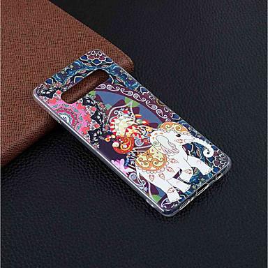 voordelige Galaxy S-serie hoesjes / covers-hoesje Voor Samsung Galaxy S9 / S9 Plus / Galaxy S10 Patroon Achterkant Olifant Zacht TPU