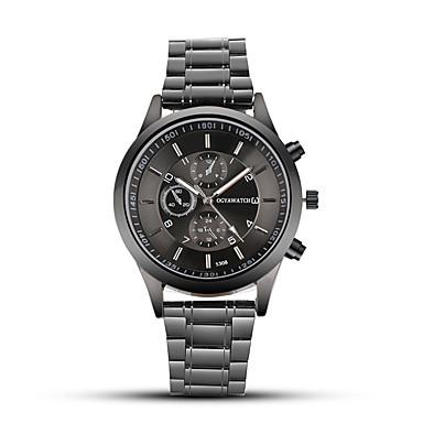 Недорогие Часы на металлическом ремешке-Муж. Нарядные часы Кварцевый Нержавеющая сталь Черный С тремя часовыми поясами Аналого-цифровые Классика На каждый день Мода - Черный