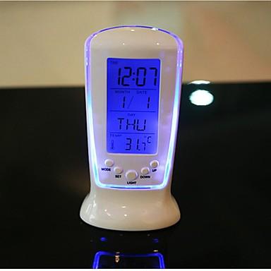 billige Hjemme Indretning-digitalt ledd skrivebord vækkeur termometer timer kalender bord indretning luminescence musik ur