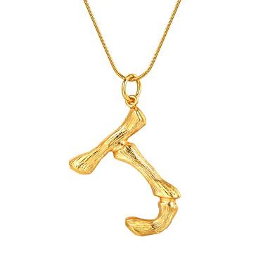 billige Mode Halskæde-Dame Navn X Halskædevedhæng Bogstaver Mode Moderne Guld Sort Sølv 55 cm Halskæder Smykker 1pc Til Gave Daglig
