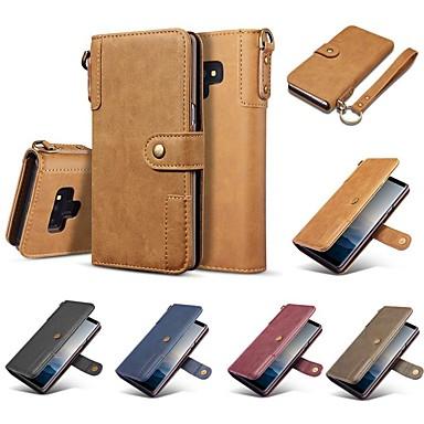 voordelige Galaxy Note-serie hoesjes / covers-hoesje Voor Samsung Galaxy Note 9 / Note 8 Portemonnee / Kaarthouder / Schokbestendig Volledig hoesje Effen Hard aitoa nahkaa