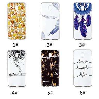 voordelige Galaxy J-serie hoesjes / covers-hoesje Voor Samsung Galaxy J7 V / J7 (2017) / J7 (2018) Patroon Achterkant Voedsel / Woord / tekst / Veren Zacht TPU