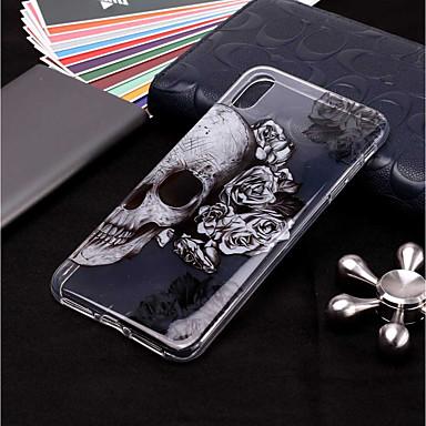 voordelige iPhone-hoesjes-hoesje Voor Apple iPhone XS / iPhone XR / iPhone XS Max Transparant / Patroon Achterkant Doodskoppen Zacht TPU